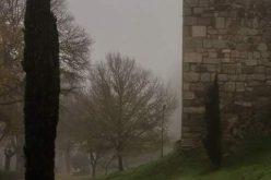 Paseo de Recaredo con niebla