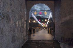 Luces navideñas sobre e Puente
